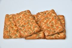 The dietetic biscuits with a sunflower seeds. Dietetic biscuits with a sunflower seeds stock photos