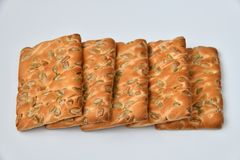 The dietetic biscuits with a sunflower seeds. Dietetic biscuits with a sunflower seeds stock image