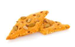 Dietetic cookie with seed Royalty Free Stock Photo