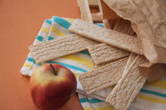 Dietetic crispbread with honey Stock Photos