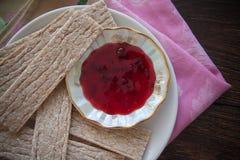 Dietetic crispbread with honey Stock Photo