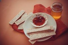 Dietetic crispbread with honey Royalty Free Stock Image