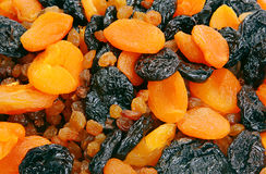Dietetic dried fruits. Mixed dietetic dried fruits close-up Stock Image