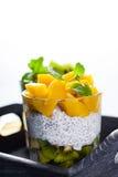 Dietetic efterrätt royaltyfria bilder