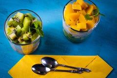 Dietetic efterrätt royaltyfri foto