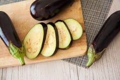 Dietetic food: aubergines Stock Photography