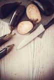 Dietetic food: aubergines Stock Images