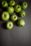 Dietetic green apples Stock Image