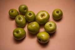 Dietetic green apples Stock Photo