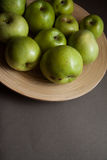 Dietetic green apples Stock Images