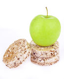Dietetic loaves with green apple Stock Photos