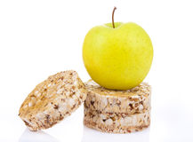 Dietetic loaves with green apple Royalty Free Stock Photos