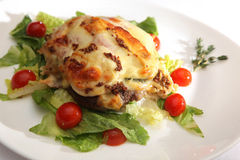 Dietetic meat dish. Dietetic food on a plate stock photography