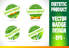 Dietetic product Badge Vector Royalty Free Stock Images
