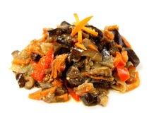 dietetic sallad för aptitretande aubergine royaltyfri foto