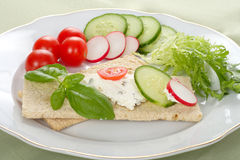 Dietetic Sandwich Stock Images