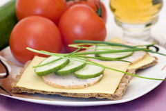 Dietetic sandwich Stock Image