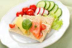Dietetic Sandwich Royalty Free Stock Images