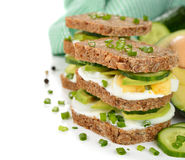 Dietetic sandwich Royalty Free Stock Image
