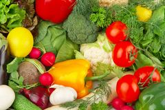 Dietetic set of paleo diet of vegetables Stock Photos