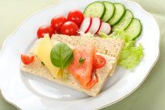 dietetic smörgås royaltyfria bilder