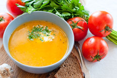 Dietetic vegetable soup Royalty Free Stock Image