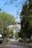 Diethn Ekthesi在Saloniki陈列区 免版税库存照片
