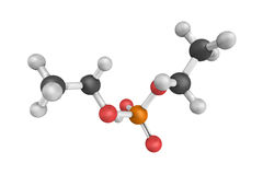 Diethyl hydrogen, a single component phosphate solution. 3d mode Royalty Free Stock Photos