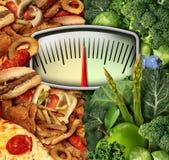 Dieting выбор иллюстрация штока