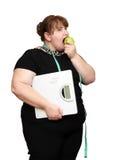 dieting полные женщины Стоковое Изображение