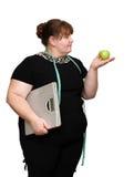 dieting полные женщины Стоковые Изображения