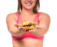 dieting тучная женщина Стоковое Изображение RF
