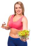 dieting тучная женщина Стоковая Фотография RF