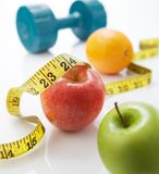 Dieting. Requires healthy eating and lots of exercise stock photography
