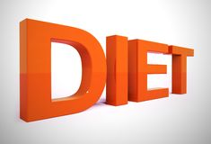 Free Dieting Advice Or Diet Tips To Help Lose Weight - 3d Illustration Stock Photos - 160718373