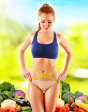 Dieting. Balanced diet based on raw organic vegetables Stock Photography