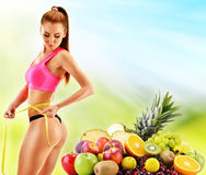Dieting. Balanced diet based on raw organic vegetables Stock Images