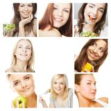 Dieting collage Royalty Free Stock Photography