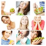 Dieting collage Royalty Free Stock Images