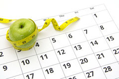 Dieting concept apple Stock Image