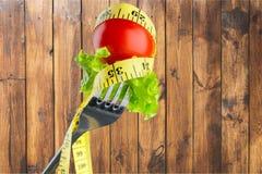 Dieting. Diet closeup vegetarian meal loose slim Stock Image