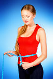 Dieting girl Stock Images