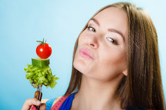 Dieting, healthcare and weight loss concept. Royalty Free Stock Photos