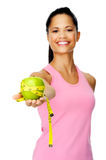 Dieting latino woman Royalty Free Stock Images