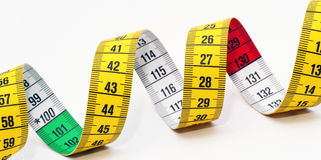 Dieting measuring tape Royalty Free Stock Photos