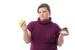 Dieting or not stock photography