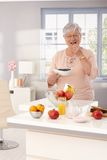 Dieting at old age Royalty Free Stock Photography