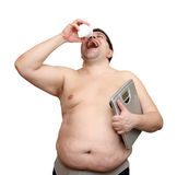 Dieting Overweight Man Royalty Free Stock Image