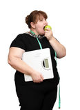 Dieting overweight women Stock Image