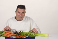 Dieting pain Royalty Free Stock Photos